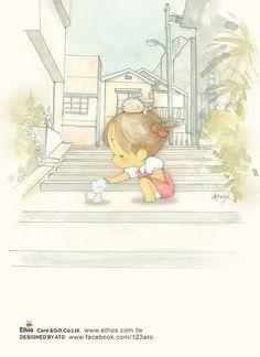 插畫家Ato Recover:遇見一隻愛撒嬌的貓咪。來源http://www.facebook.com/123ato