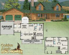 New 2013 Golden Eagle Log Homes Floor Plan...New Version of the Oakridge