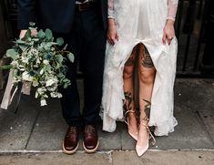 Documentary Wedding Photography, Creative Wedding Photography, Brides With Tattoos, Alternative Wedding, Alternative Style, Documentary Photographers, Wedding Inspiration, Wedding Ideas, Wedding Shoot