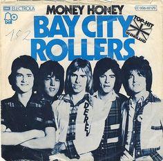 "Single 7"" · BAY CITY ROLLERS · MONEY HONY · MARYANNE · 1975"