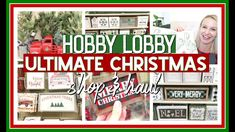In today's video, I'm heading to Hobby Lobby to share MOST of their Christmas decor (they have ALOT). Stay tuned until the end - I also share a haul!