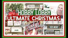 HOBBY LOBBY CHRISTMAS SHOP WITH ME & HAUL | FARMHOUSE CHRISTMAS DECOR 2019