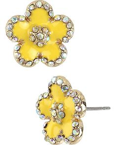 FLOWER YELLOW EARRING YELLOW accessories jewelry earrings fashion
