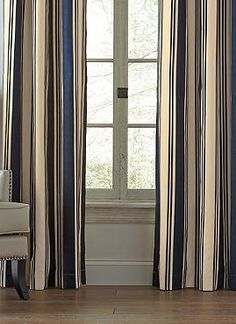 More than just a design accessory, the Set of Two Weathermate Broadstripe Curtain Panels with Grommets regulate temperature, light, and sound while adding stylish character to your home.