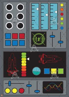 Image result for control panel printable Rocketship