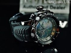 Invicta Venom Sea Dragon Gen II Swiss Chronograph Mother of Pearl Dial Watc for sale online All Black Watches, Watches For Men Unique, Stylish Watches, Luxury Watches For Men, Patek Philippe, Devon, Cartier, Omega, Rolex Watches