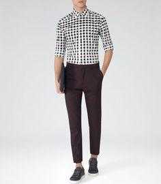 Street style tendance : Banshee Black Graphic Print Shirt  REISS