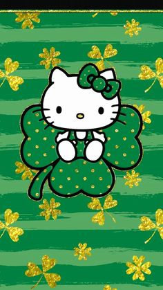 Happy Stpatricks Day Hello Kitty Backgrounds Hello regarding Hello Kitty Background Green - All Cartoon Wallpapers Sanrio Hello Kitty, Melody Hello Kitty, Hello Kitty Art, Hello Kitty Birthday, St Patricks Day Pictures, Happy St Patricks Day, Hello Kitty Backgrounds, Hello Kitty Wallpaper, Phone Backgrounds