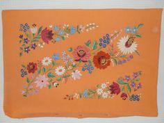 Handmede embroidery pillow Hungarian Kalocsa by macaristanbul, $50.00