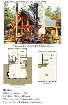 Home Plans Cottage Home Plans Cottages are heat, quaint, and welcoming. Our cottage home plans embrace designs with bungalow and Craftsman traits, usu. Little House Plans, A Frame House Plans, Cabin House Plans, House Plans One Story, Log Cabin Homes, Dream House Plans, Small House Plans, House Floor Plans, Log Cabin Floor Plans