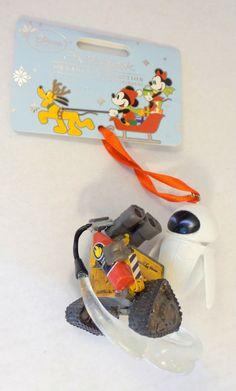Disney Store Pixar WALL-E EVE Sketchbook Christmas Tree Ornament NEW NWT