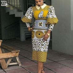 The collection of Beautiful Ankara Pattern Styles For Ladies you've ever wanted to see. Want to style and pattern your African print ankara African Fashion Ankara, African Print Dresses, African Print Fashion, Africa Fashion, African Dress, Fashion Prints, Fashion Design, African Prints, Fashion Patterns