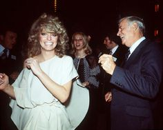 Farrah Fawcett dancing with her dad at Studio 54