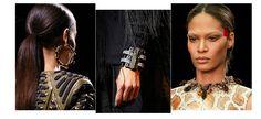 bracelet Lanvin, col/collier Givenchy, boucle d'oreille Céline