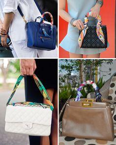 truque se styling: amarração de lenço na bolsa