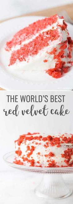 This is the best red velvet cake I have ever had. So dang moist and delicious, you'll never make a red velvet box mix again! Semi Homemade Cake Recipe, Homemade Donuts, Homemade Cakes, Easy Red Velvet Cake, Red Cake, Cupcakes, Cupcake Cakes, Red Velvet Cheesecake Brownies, Pumpkin Cheesecake