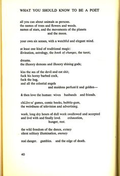 """""""What You Should Know to be a Poet"""" by Gary Snyder"""