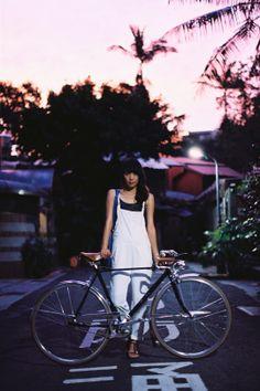 Ride her Vintage at Sunset
