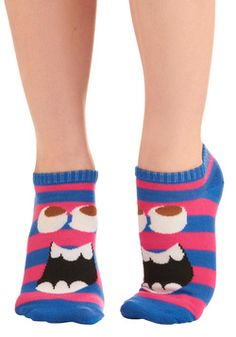 Fun is Afoot Socks. haha. Turn your feet into little monsters.
