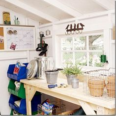 Could be utility room or garden shed...love the calendar for planting specfic organization