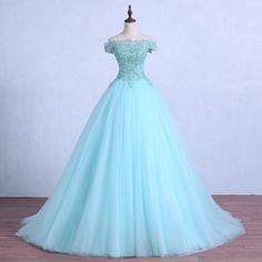 Cheap quinceanera dresses, Buy Quality dresses quinceanera dresses directly from China ball gowns quinceanera dresses Suppliers: Lace-up Light Green Tulle Wedding Ball Gown Crystal Beading Appliques Quinceanera Dresses Floor Length Wedding Party Dress Ball Gown Dresses, 15 Dresses, Sweet 16 Dresses, Tulle Dress, Elegant Dresses, Pretty Dresses, Evening Dresses, Formal Dresses, Vestidos Color Menta