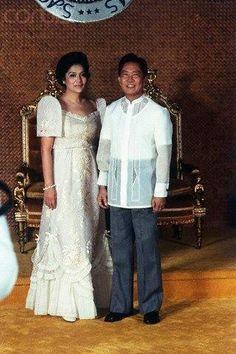Philippines Dress, Philippines Culture, Ferdinand, Modern Filipiniana Dress, Philippine Army, Barong Tagalog, Filipino Wedding, Traditional Dresses, Costume Design