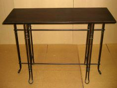 """32""""Hx15""""Wx43""""L Iron Bistro Console Brown by Silk Decor. $141.78. 32""""Hx15""""Wx43""""L Iron Bistro Console Brown. Weight: 362.24 OZSome assembly may be required. Please see product details. Some assembly may be required. Please see product details."""