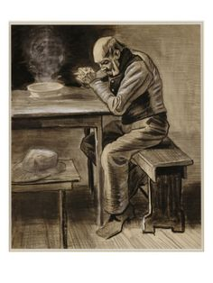 Vincent Van Gogh - The Prayer Art Print. Explore our collection of Vincent Van Gogh fine art prints, giclees, posters and hand crafted canvas products Art Van, Van Gogh Art, Vincent Van Gogh, Van Gogh Drawings, Van Gogh Paintings, Dutch Artists, Famous Artists, Rembrandt, Van Gogh Zeichnungen