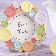 """Cute As A Button"" Baby Shower Frame Favor"