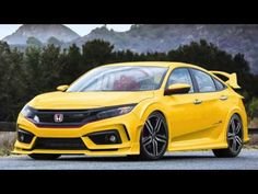 Honda Civic #coupe yellow # very cool #10th Gen  ♠... X Bros Apparel Vintage Motor T-shirts, New and Classic Honda Civics, VTECH cars,  Great price… ♠♠