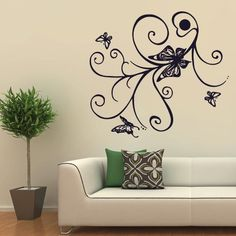 Wall Decal Decor Decals Sticker Butterflies Flight Insects Beauty Papillons Stick Branch (M312) DecorWallDecals http://www.amazon.com/dp/B00FWL44MC/ref=cm_sw_r_pi_dp_6RFYub193CCRW