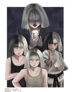 Sia and Maddie Ziegler Fanart Music Drawings, Cool Drawings, Sia Singer, Sia Kate Isobelle Furler, Sia Music, Sia And Maddie, Maddie Ziegler, Me Anime, Dance Moms