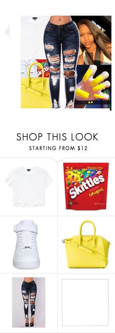 """""I'm in love with all your features"""" by theylovenadiia ❤ liked on Polyvore featuring Wilfred Free, NIKE, Givenchy and Menu"