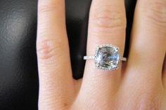 Gray diamond engagement ring
