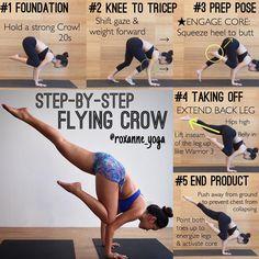 いいね!764件、コメント15件 ― Roxanne Ganさん(@roxanne_yoga)のInstagramアカウント: 「. Today's tutorial:  Eka Pada Bakasana Flying Crow Pose Here's a step-by-step guide of getting into…」