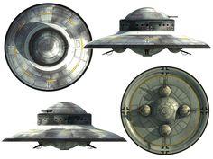 Concept Luftwaffe Haunebu II  Тезнические характеристики:  Диаметр: 26,3 м. Двигатель: Туле-тахионатор 7b, бронированый, диаметр двигателя:23 м. Управление: магнитно-импульсное Скорость: от 6,000 км\час до 21,000 км\час Дальность полета(в часах): 55 часов Вооружение: 6-8см KSK пулеметы, во вращающихся пулеметных башнях: на фюзеляже внизу, 11см KSK в одной башне сверху. Броня: тройная Экипаж: от 9 до 20 чел. Приспособленость к космическим полетам: 100% Выход на орбиту: 19мин.