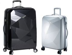 The Karat Luggage has a unique glossy gem-esque hard shell which serves a practical purpose