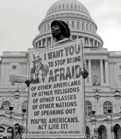 This.  I want this sign.  Stop seeing all these different classifications and start seeing countrymen.  And that goes for you, no matter what your party, religion (or lack thereof), race, or class.  We're all Americans, so start acting like it!