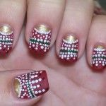 Christmas Nail Designs With White Spots