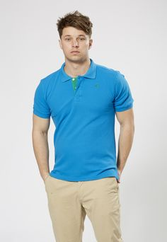 FARU Classic Polo - Blue, perfect for summer. 10% of all sales goes to conservation