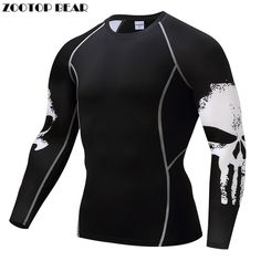 98e8b008fedc5 Punisher Compression Shirt Men Breathable Quick Dry T Shirt Bodybuilding  Top Crossfit Tee Fitness Weight lifting · Base Layer ClothingActivewear ...
