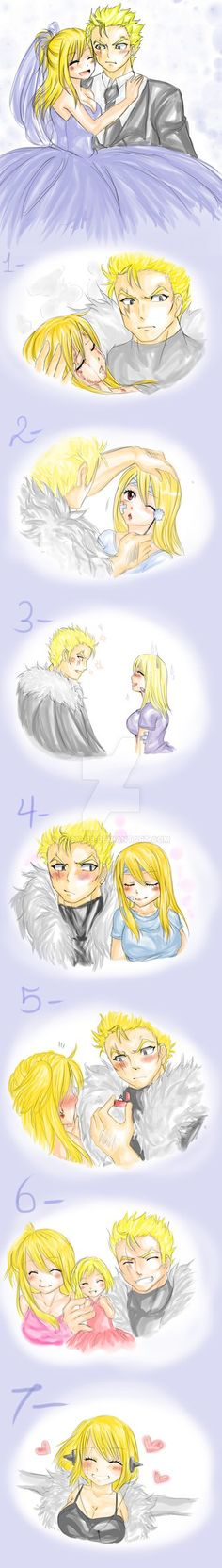 lalu week by Lucy-H9 on DeviantArt<<<I don't ship it, but their kid would be so freaking adorable