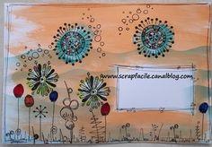 MA Peggy recto Art Postal, Scrap, Mail Art, Cards, Scrap Material