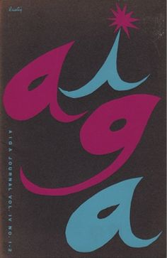 Alvin Lustig, Aiga Journal c.1952