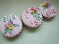 fondant decorated cookies