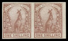 NEW SOUTH WALES - 1899 Chalk-Surfaced Paper 1/- purple-brown Kangaroo Imperforate Pair SG 312a, minor hinge remainders, large-part o.g., Cat… / MAD on Collections - Browse and find over 10,000 categories of collectables from around the world - antiques, stamps, coins, memorabilia, art, bottles, jewellery, furniture, medals, toys and more at madoncollections.com. Free to view - Free to Register - Visit today. #Stamps #MADonCollections #MADonC Remainders, South Wales, Kangaroo, Vintage World Maps, The Past, Objects, Auction, Australia, Stamp