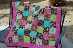 I made this for my daughter's first birthday. It was my first time ever making a quilt! Daunting but fun :-)
