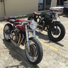 @caferacergram Honda CB400F (to 466) and CX500 by @popbangclassics