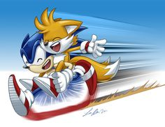 Sonic and Tails by SupaCrikeyDave.deviantart.com on @deviantART