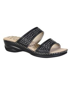 Loving this Black Studded Appease Slide on #zulily! #zulilyfinds